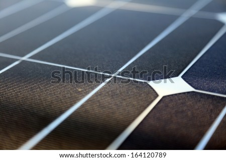 Photovoltaic panels panel solar energy concept - stock photo