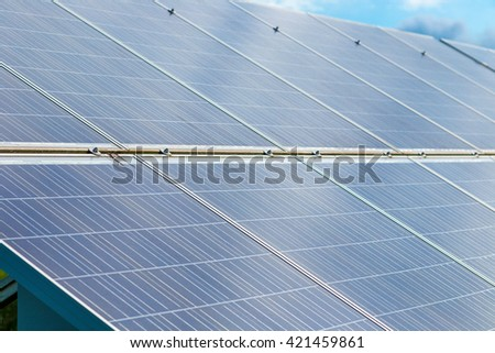 photovoltaic panels under the sun