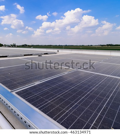 Photovoltaic plant, close-up
