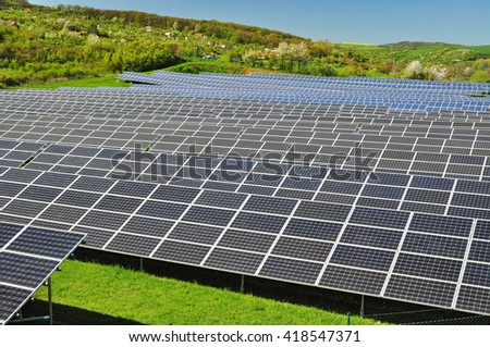 Photovoltaic plant industry solar business - stock photo