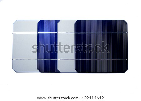 Photovoltaic solar cells for a solar panel