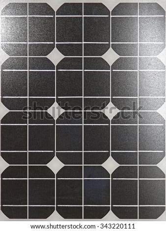 Photovoltaic Solar Panel With Sun Reflection - stock photo