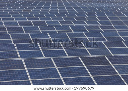 Photovoltaic solar  power station - stock photo