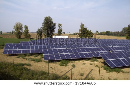 Photovoltaic system in a meadow