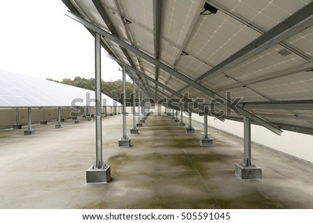 Photovoltaic System in the roof of the building.