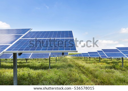 photovoltaics in solar power station energy from natural