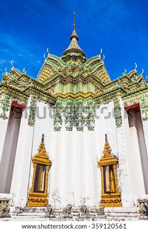 Phra Mondob in Wat Pho Buddhist temple complex in Bangkok, Thailand - stock photo