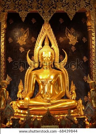 Phra Phut Chin Rat, Idols of Lord Buddha the most beautiful in Thailand - stock photo