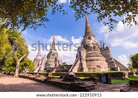 Phra Si Sanphet temple, Ayutthaya, Thailand - stock photo