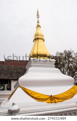Phra That Kham Kaen, Khon Kaen Province,Thailand - stock photo