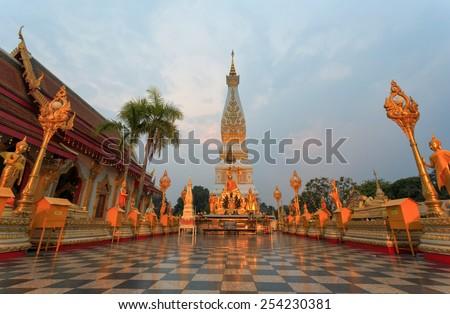 Phra That Phanom Temple ,Nakhon Phanom ,Thailand - stock photo