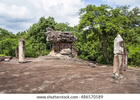 Phu Phra Bat Historical Park, Udonthani, Thailand - Famous for unusual rock formations (originated by under-sea erosion 15 mil yrs ago) around which religious shrines have been constructed.