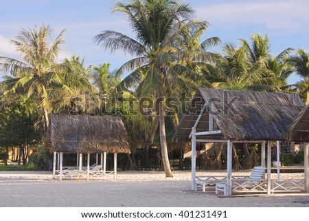 PHU QUOC,VIETNAM - April 03, 2016:PHU QUOC, VIETNAM - March 28, 2016:Long Beach, Sea Star Resort on Phu Quoc island, Vietnam, Asia