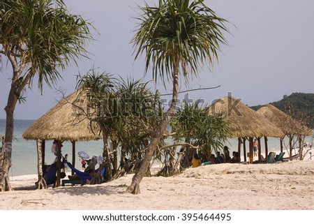 Phu Quoc, VIETNAM - March 03:Bai Sao Beach, Pacific beach in the south of Phu Quoc Island, , Vietnam on March 03, 2016.
