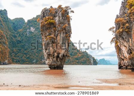 Phuket James Bond island Phang Nga. - stock photo