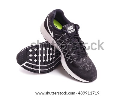 PHUKET, THAILAND - MARCH 6 : New style nike shoes. Taken at studio and isolated over white background on March 6, 2016 in Phuket, Thailand.