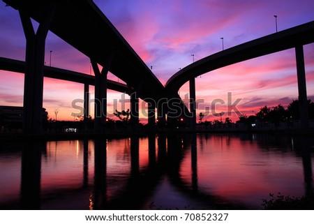 Phummiphol Bridge - stock photo