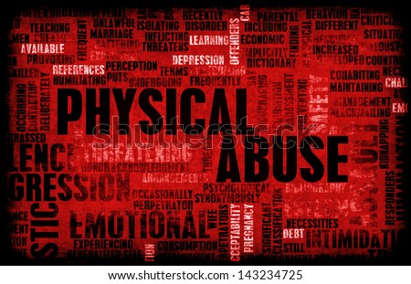 Physical Abuse and Violence as a Abstract - stock photo