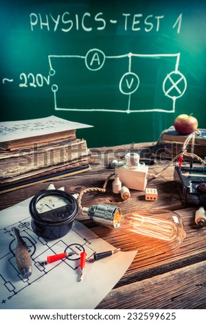 Physical experience of an electric current - stock photo