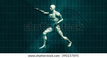 Physical Training for Motivation and Inspiration Art - stock photo