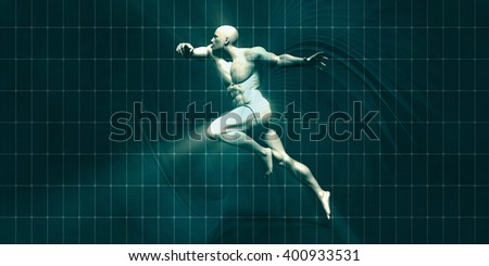 Physical Training for Motivation and Inspiration Art 3D Illustration