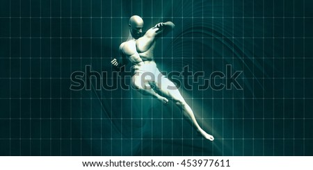 Physical Training for Motivation and Inspiration Art 3D Render Illustration - stock photo
