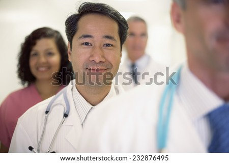 Physician and His Team - stock photo