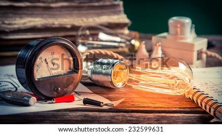 Physics Laboratory in school - stock photo