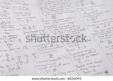 Physics Notes - stock photo