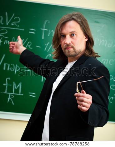 physics professor - stock photo