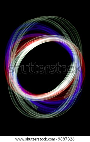 Physiogram with red,green and blue filters. - stock photo