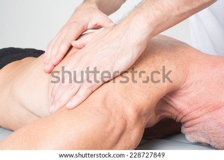 Physiotherapy with an older patient