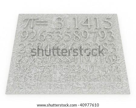 pi numbers - stock photo