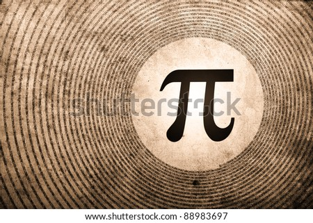 pi symbol is the largest number in the world - stock photo