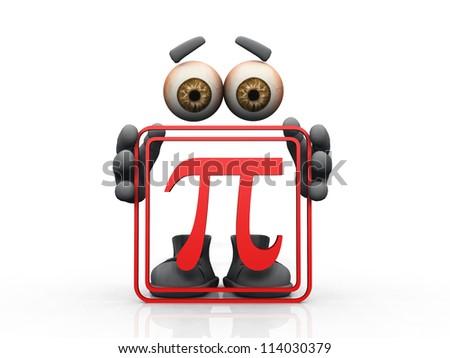 pi symbol on a white background - stock photo