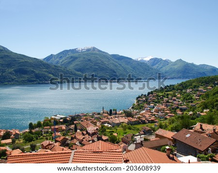 Pianello del Lario, Lake of Como, Italy: Panorama of the Lake of Como from the Mountains