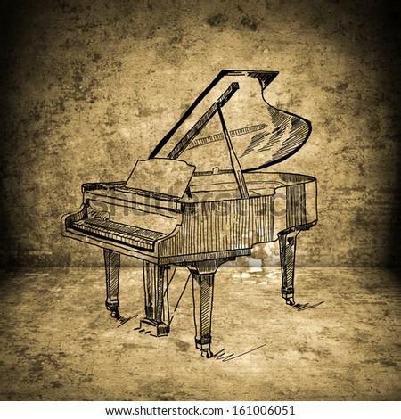 piano  - stock photo