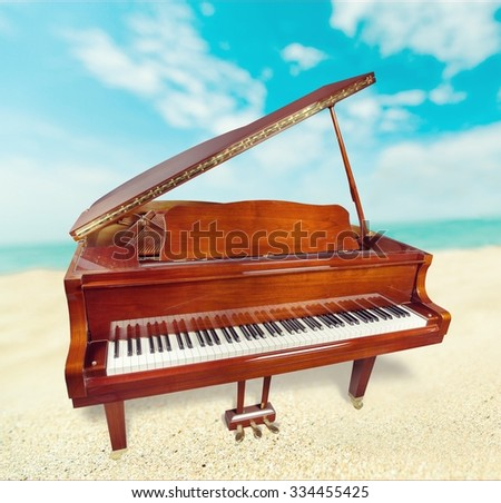 Piano. - stock photo
