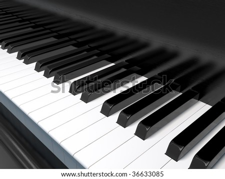piano - stock photo