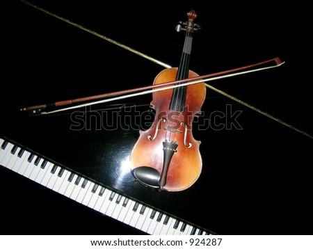 Piano and Violin - stock photo