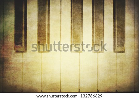 Piano background - stock photo