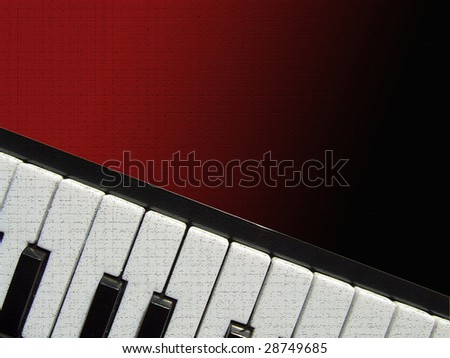 Piano background for different uses (invitations, postcards) - stock photo