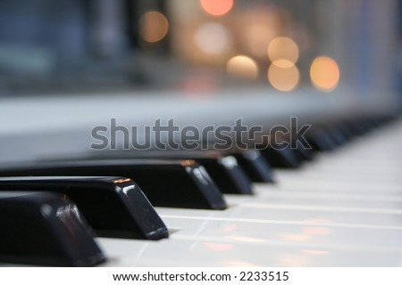 piano buttons - stock photo