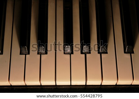 Piano. Classical instrument.