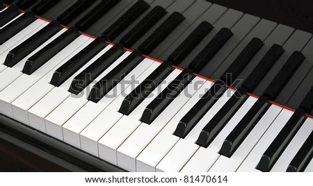 Piano closeup - stock photo