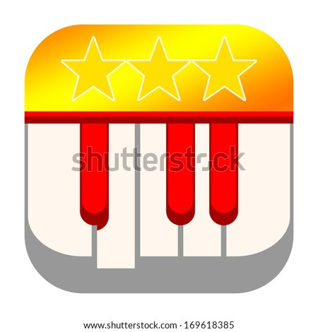 Piano icon - stock photo