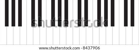 Piano illustration - stock photo