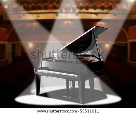 piano in concert hall