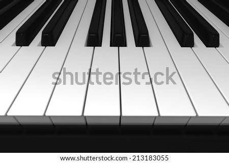 Piano keyboard - stock photo