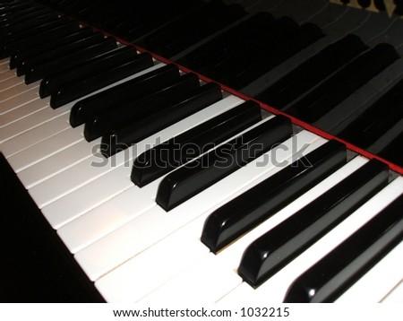 Piano Keyboard Close - stock photo